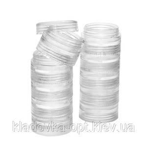 Баночка с закруткой прозрачная тара столбик из 10 штук, фото 2