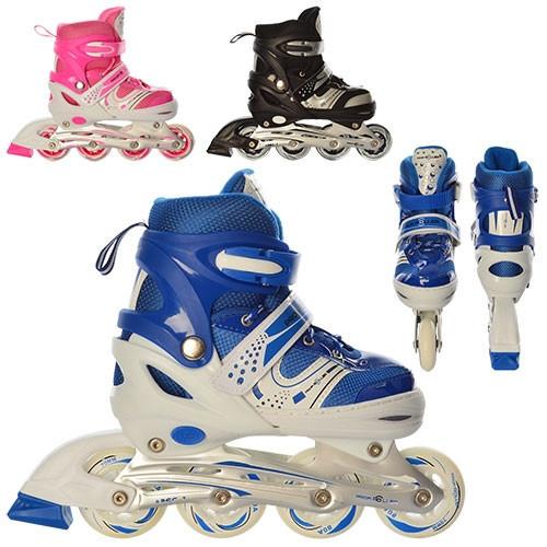 Роликовые коньки Profi Roller A 12100 раздвижные, разные цвета