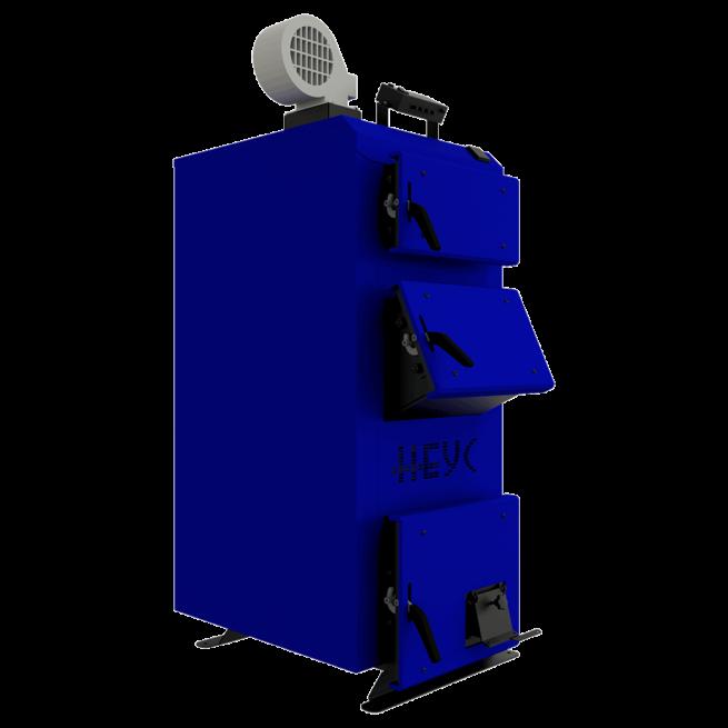Универсальный отопительный котел длительного горения на твердом топливе Неус-В 17