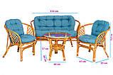 Набір меблів з натурального ротангу BAHAMA, фото 4