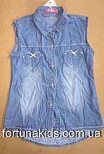 Джинсовые рубашки для девочек S&D 3/4-7/8 лет