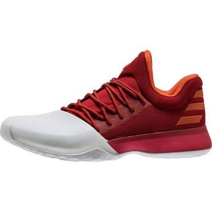 Кроссовки мужские Adidas Harden Vol 1 White/Red, фото 2