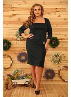 Женское платье на каждый день Юфеза цвет бутылка / размер 48-72