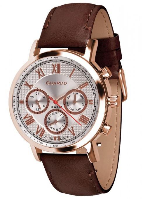 Часы Guardo PREMIUM 11450 RgWBr  кварц.