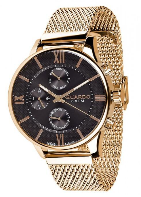 Часы Guardo PREMIUM 11419(m) GB  браслет V  кварц.