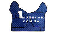 Автомобильные ковры из экокожи Renault Premium c 2005 г. в. синего цвета Т 01