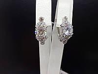 Серебряные серьги Мрия с фианитами. Артикул 2951р-CZ, фото 1