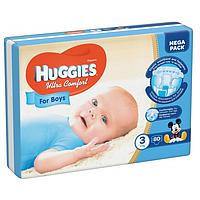 Подгузники Huggies Ultra Comfort 3 (5-9 кг) для мальчиков Mega Pack 80 шт.
