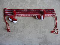 Налобник для девочки красный в1 | Начільник для дівчинки червоний в1