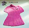 Вязаное платьице  для девочки   (рост 104 см)