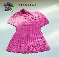 Вязаное платьице  для девочки   (рост 104 см), фото 1