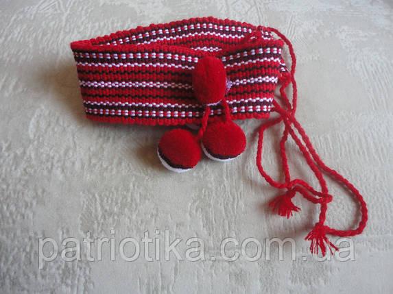Налобник для девочки красный в1 | Начільник для дівчинки червоний в1, фото 2