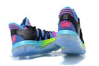 Кроссовки мужские NIKE Zoom KD10 Black/Blue/Green, фото 2