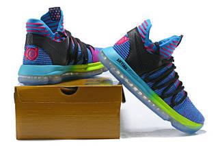 Кроссовки мужские NIKE Zoom KD10 Black/Blue/Green, фото 3