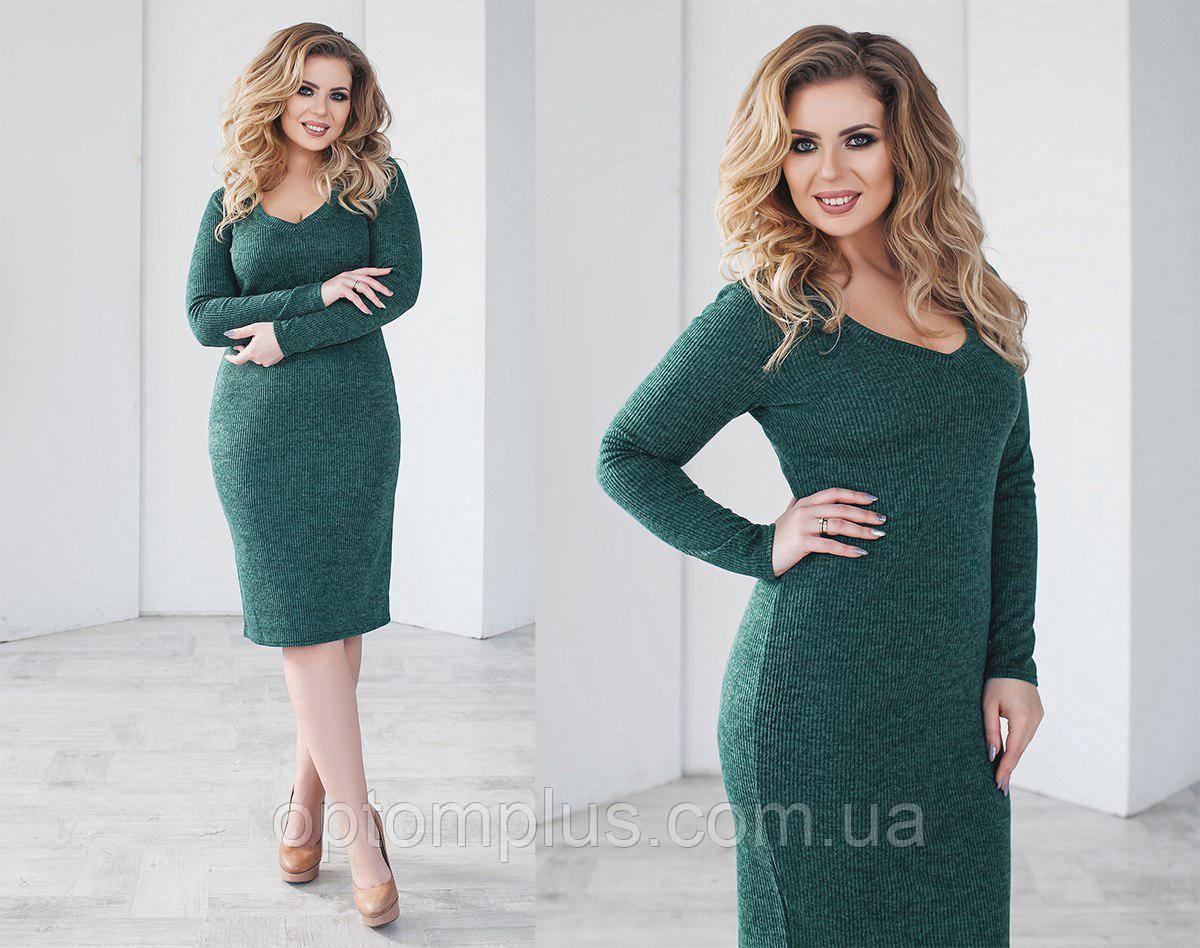 b68e2eb8a89b Платье женское полубатал (ангора, рубчик) от склада оптом 7 км Одесса