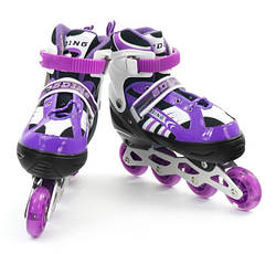 Ролики размер 31-34, 35-38 Фиолетовые, PU-колеса