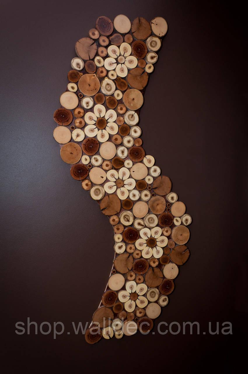 """Декоративная деревянная панель """"WAVE"""""""
