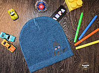 Весенняя шапка для мальчика Hipster Польша бирюза, фото 1