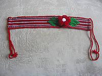 Налобник для девочки красный в2 | Начільник для дівчинки червоний в2, фото 1