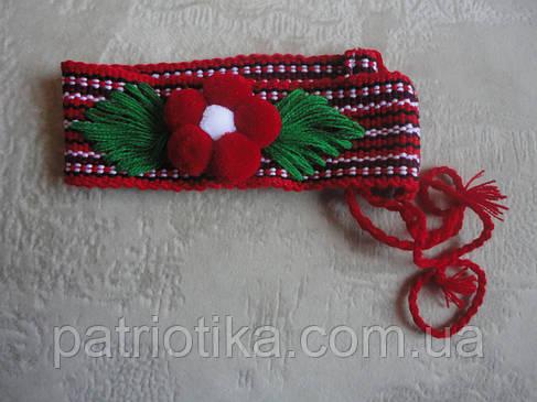 Налобник для девочки красный в2   Начільник для дівчинки червоний в2, фото 2