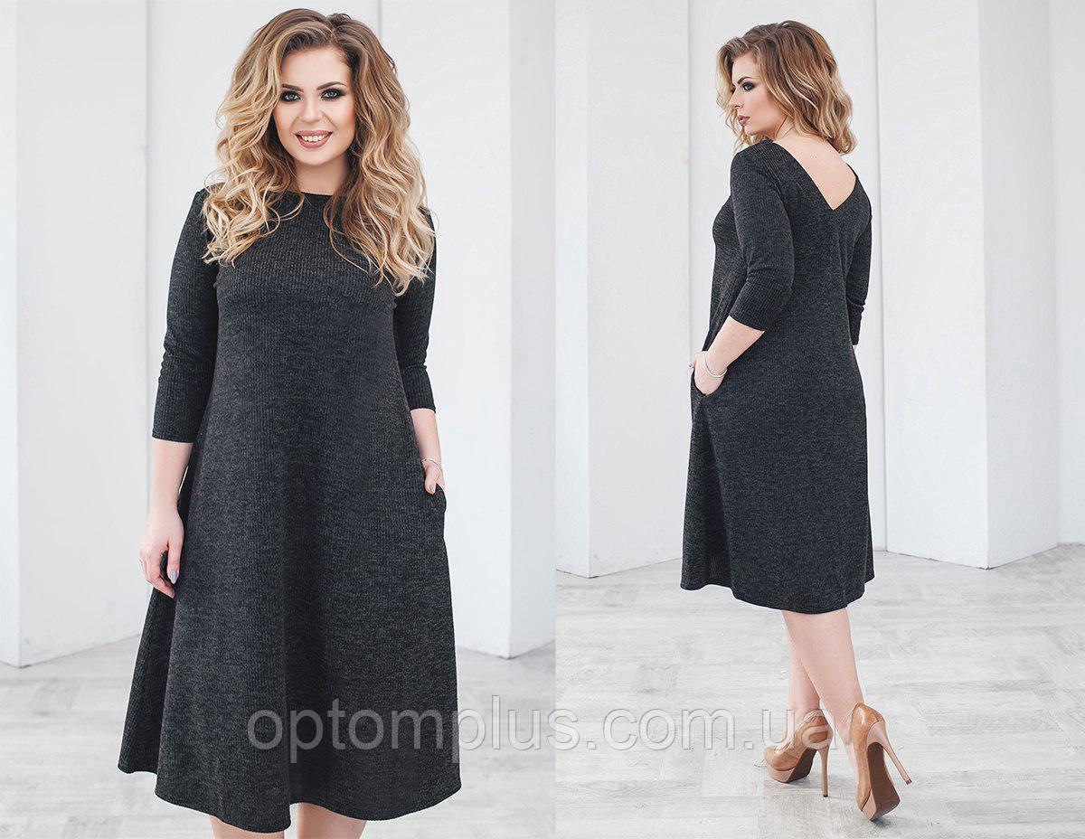 ba2902fa9f7 Купить Платье женское полубатал (ангора