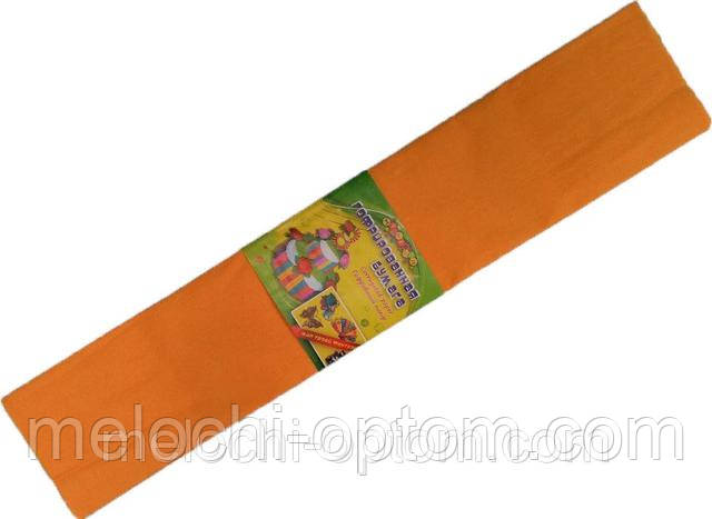 """Бумага креповая 7742 """"Мультяшки"""" оранжевая 50*200 см."""