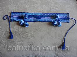 Налобник для девочки синий   Начільник для дівчинки синій