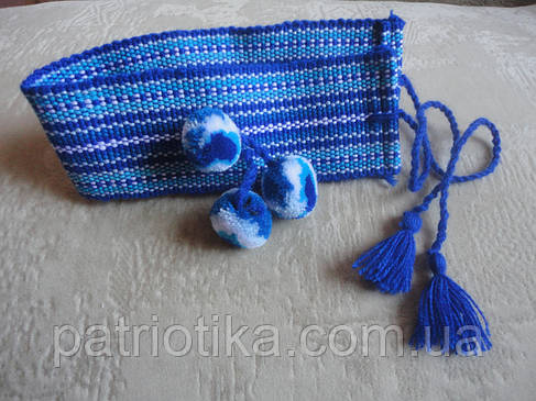 Налобник для девочки синий   Начільник для дівчинки синій, фото 2