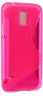 Силиконовый розовый чехол S Line для Samsung Galaxy S5
