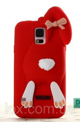 Красный Зайчик Samsung S5 чехол Moschino