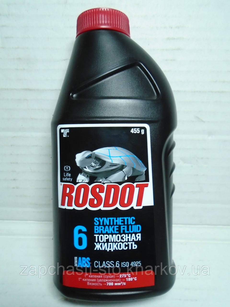 Тормозная жидкость Ros Dot 6 ABS синтетика 455г