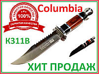 "Нож охотничий в чехле фиксированный клинок  пила ""Columbia"" К311В А176 27х3х15х12"