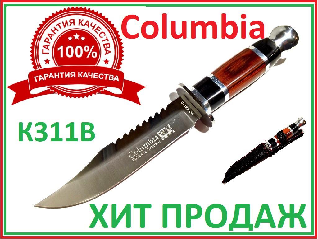 Нож охотничий в чехле фиксированный клинок  пила