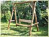 Садовые качели из дерева на заказ Киев, деревянные качели для дачи