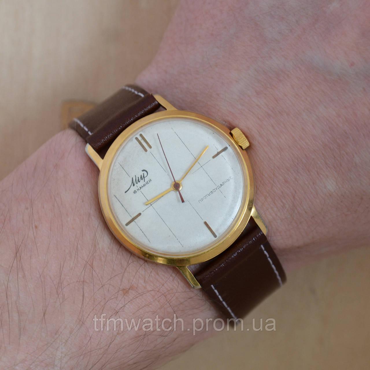 f0a7705a Мир наручные механические часы СССР - Магазин старинных, винтажных и  антикварных часов TFMwatch в России