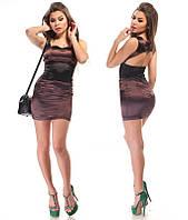 Шоколадное платье с вырезом на спине