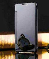 Черный зеркальный хамелеон чехол-книжка для Samsung Galaxy S6, фото 1