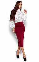 S-M, M-L / Теплая женская юбка Fiora, бордовый