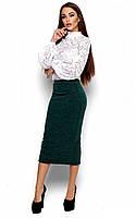 S-M / Теплая женская юбка Fiora, темно-зеленый