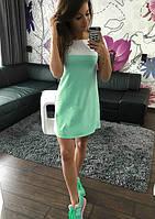 Платье «Трапеция» лето, комбинированные цвета, фото 1