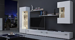 Гостиная стенка Classic AAAA MEBLE белый/белый глянец