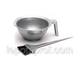 Миска для окрашивания волос Nouvelle, серая