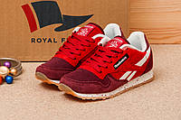 Женские кроссовки Reebok Classic, красные, размер 38