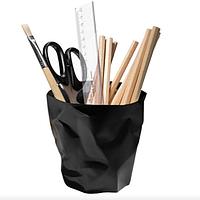 Стакан для ручек и карандашей черный и белый