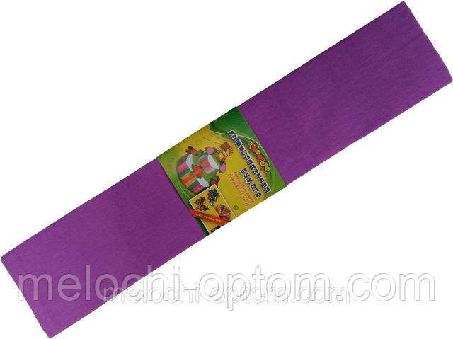 Бумага креповая МУЛЬТЯШКИ фиолетовая (500х2000mm) для творчества