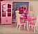 """Мебель """"Gloria"""" 24011  для кукол столовой, стол, стулья, буфет, посуда…в кор.32*24*5см, фото 4"""