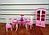 """Мебель """"Gloria"""" 24011  для кукол столовой, стол, стулья, буфет, посуда…в кор.32*24*5см, фото 2"""
