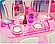 """Мебель """"Gloria"""" 24011  для кукол столовой, стол, стулья, буфет, посуда…в кор.32*24*5см, фото 3"""