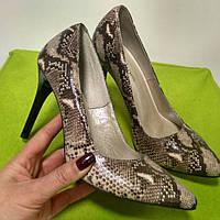 Туфли женские рептилия, туфли на шпильке, туфли кожа, туфли опт и розница