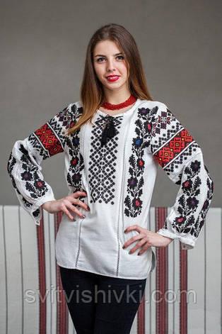 "Женская вышиванка с ""Борщівським"" узором, фото 2"